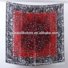 100 silk 2014 hot red leopard new style hijab