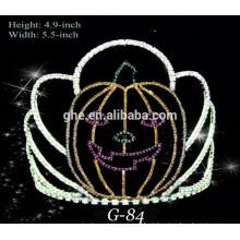 Nova coroa de abóbora fofa pequena para o desfile de Halloween