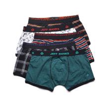 El OEM modificó la ropa interior inglesa de los pantalones de los escritos de la esquina de la alta calidad del boxeador