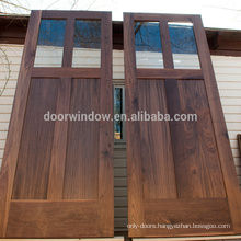 American walnut grain color wood interior front door manufacturer barn sliding door