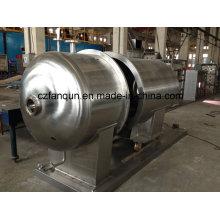 Secador de vácuo redondo de aço inoxidável para produtos químicos e alimentares
