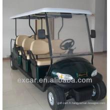 EXCAR 8 places golf électrique chariot chine golf buggy voiture club golf cart à vendre