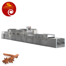 Efficient Tunnel Microwave Drying And Sterilization Equipment  For Cinnamon