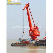Quatre Jib Crane portail Offshore levage dispositif de relevage