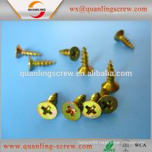 Chinese products wholesale flat head carbon steel black phosphate chipboard screw