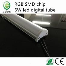 RGB SMD chip 6W llevó el tubo digital