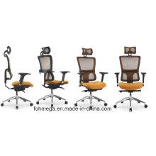 Foshan Mobiliario de Oficina Silla de malla anaranjada con reposacabezas