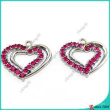 Pendentif breloques cristal violet coeur pour bricolage bijoux (MPE)