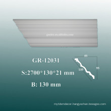 Environmental Decorative PU Cornices/ Crown Molding on Ceiling