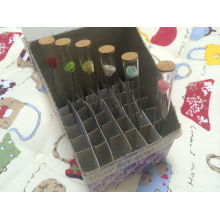 Botella de cristal transparente Tubular de 1,5 ml para Perfume muestras paquete