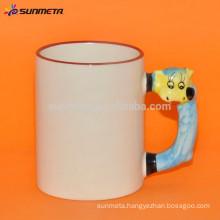 sublimation ceramic mug with animal handle,ceramic animal mug for sublimation