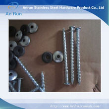 Electro Galvanized Umbrella Roofing Nail with Plastic Washer Manufacturer
