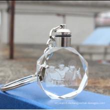 Высокое качество лазерной гравировки светодиодные Кристалл брелок
