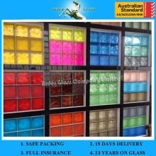 Heißer Verkauf 190 * 190 * 80mm klarer oder farbiger Block-Glasziegel für Fußboden oder Wand
