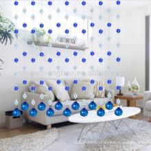 Dernier rideau de douche à rayures bleue et romantique