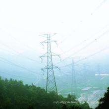 220kv de doble ángulo de circuito de acero línea de transmisión de energía de la torre