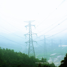 220kv Double Circuit Angle Steel Power Transmission Line Tower