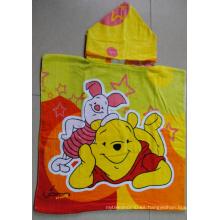 (BC-PB1013) Poncho de playa para niños con estampado de algodón 100% colorido