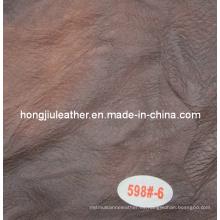 Venta caliente italiana estilo moderno color oscuro sofá cuero