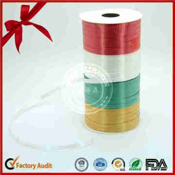 Maunfacture Colorful Plastic Iridescent Ribbon Roll