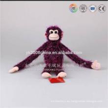 2016 desarrolló hotsale mono gorila animales juguetes de peluche brazo largo