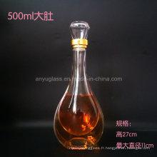 Personnaliser le logo de décalage Hot Stamping Superior Glass Liquor Bottle