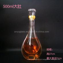 Personalize o logotipo do decalque que carimba a garrafa superior do licor do vidro superior