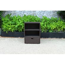 Best Selling Patio PE Rattan Wicker Storage Cabinet