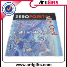 Micro-fiber cleaning cloth with map logo