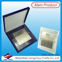 Trofeo personalizado de acrílico + metal, trofeo de cristal impreso su logotipo