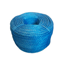 Factory price twisted rope blue PP split film rope in 6-14mm