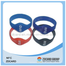 ISO14443 NFC RFID силиконовый браслет / браслет тегов Водонепроницаемый