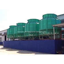 Torre de enfriamiento de la planta de renderizado.
