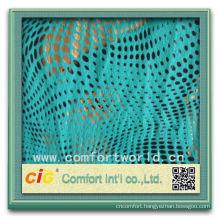 High quality new design 100% polyester knitting sofa print velvet fabric