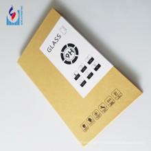 boîte d'emballage de protecteur d'écran de verre imprimé par logo personnalisé