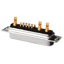 Connecteurs D-Sub à contacts mixtes 13W3, soudure droite, femelle