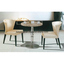 Singapore Round Artificial Marble Restaurant Dining Table