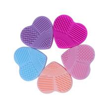 brush egg heart shape silicone makeup brush cleaner