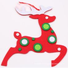 OEM New Product Christmas Felt Reindeer Hang Decoration