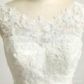 Bridal Wedding Backless Gown Satin Lace Vintage Appliqued Rhinestone Dress Wedding With Pink Sash