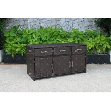 RACA-001 Hot selling summer season Poly Rattan Outdoor Kitchen Cabinet