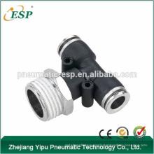 ningbo ESP male branch tee threaded plastic pipe fittings