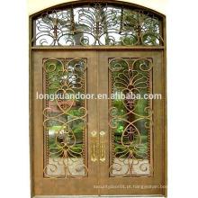 Último preço porta dupla, portas de ferro forjado