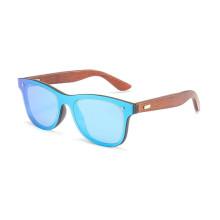 2019 Mens Sunglasses Polarized Walnut Wood Mirror Lens Sun Glasses Women Brand Design