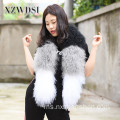 Wanita Stitching Style Fur Scarf For Winter Warm