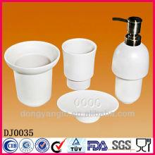 Customize logo ceramic bath accessories , bathroom accessories set