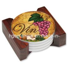 Coaster en céramique, en céramique ronde