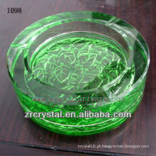 K9 Cinzeiro de Cristal Redondo Verde