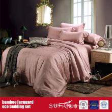 Juego de sábanas de bambú, jacquard de fibra de bambú Juego de sábanas de bambú, para hotel