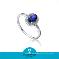 925 prata esterlina anel de jóias de moda para amostra grátis (j-0166-r)